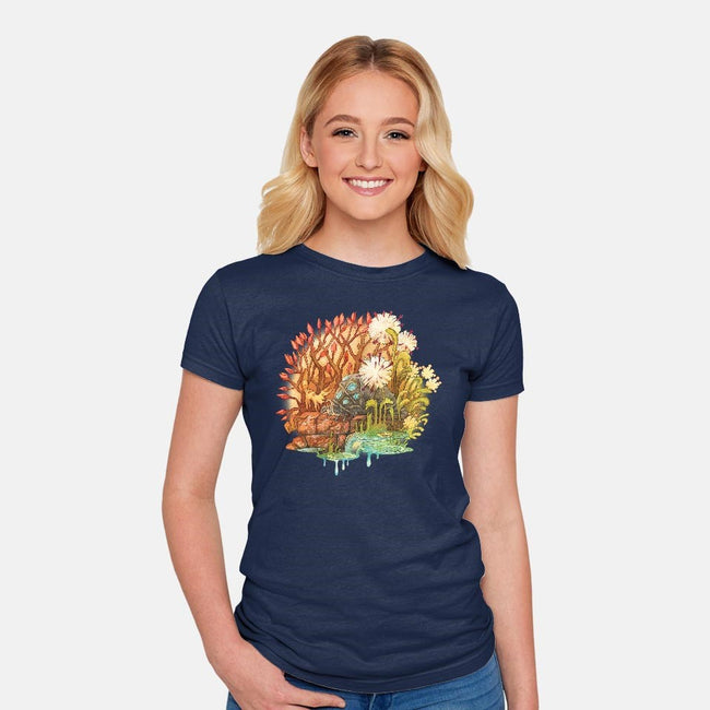 Ohmu and Fox-womens fitted tee-storyofthedoor