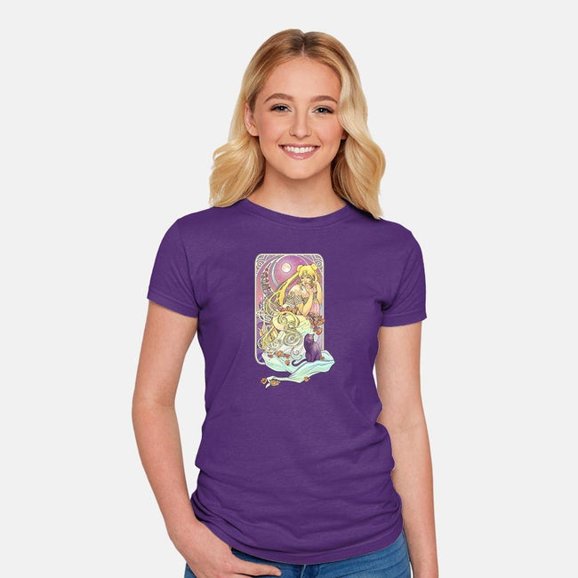 Princess Serenity-womens fitted tee-dailenogden