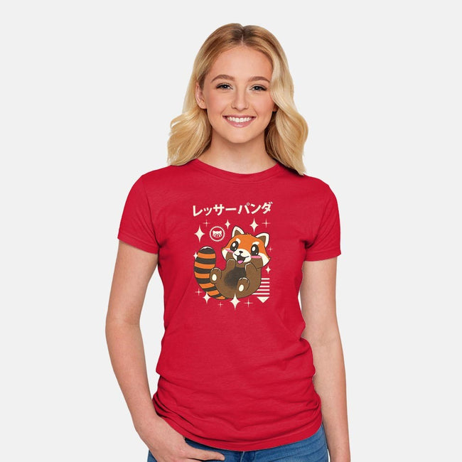 Kawaii Red Panda-womens fitted tee-vp021