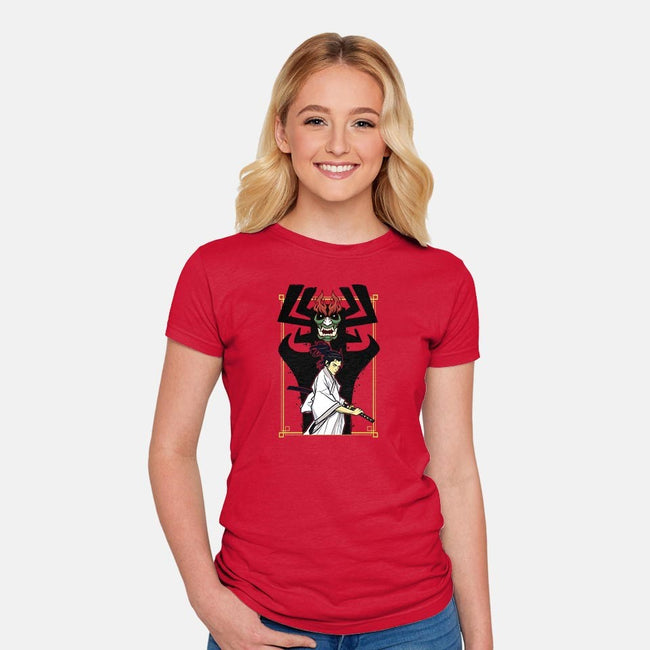Time Traveling Samurai-womens fitted tee-lucassilva