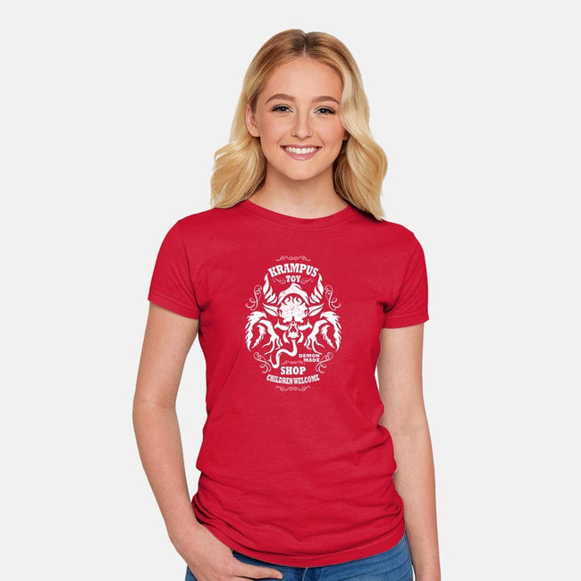 Krampus Toy Shop-womens fitted tee-jrberger