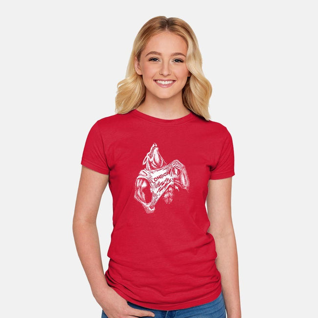 American Werewolf-womens fitted tee-department