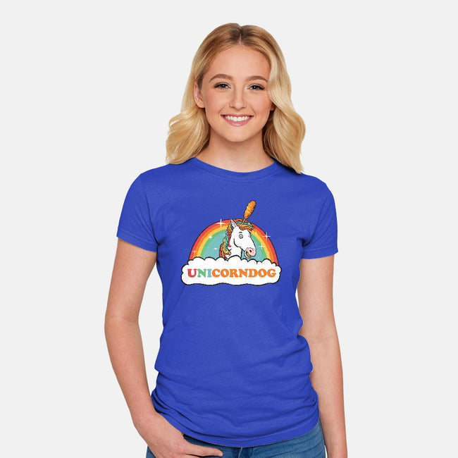 UniCorndog-womens fitted tee-hbdesign