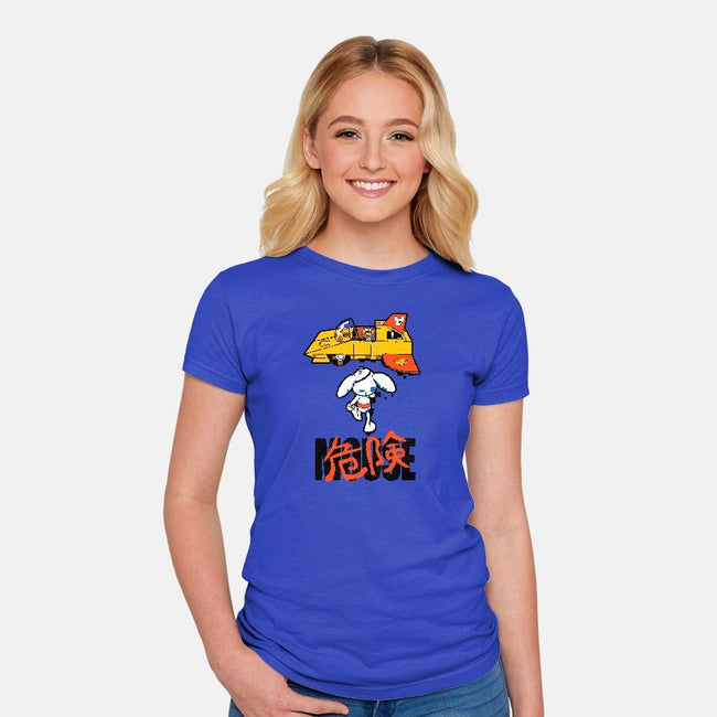Danger Kira Mouse-womens fitted tee-bleee