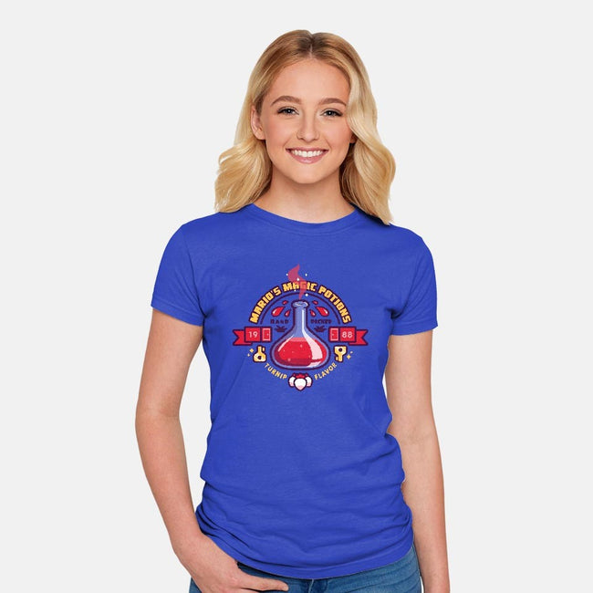 Mario's Magic Potions-womens fitted tee-Minilla