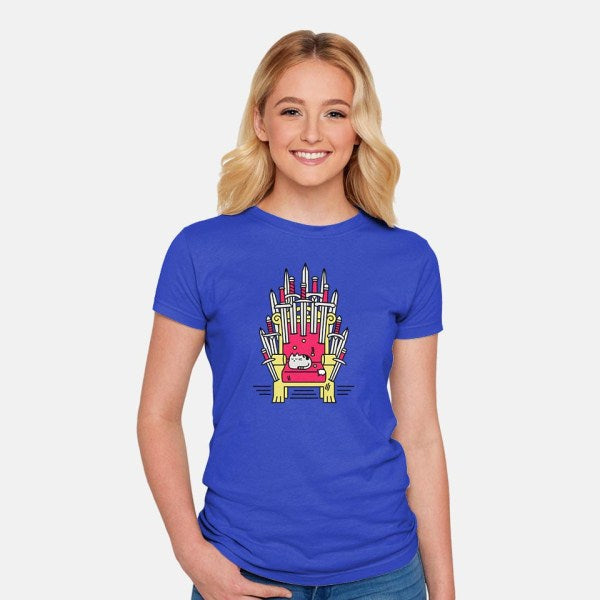 Game of Naps-womens fitted tee-craftsman
