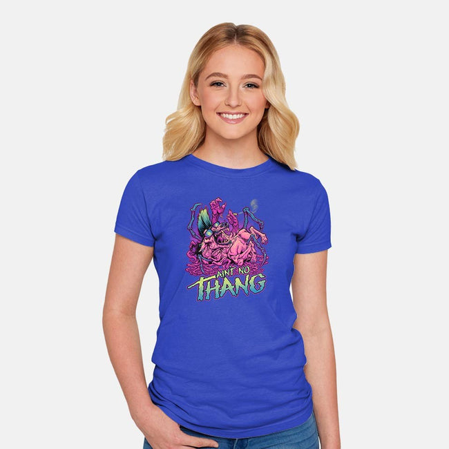 Ain't No Thang-womens fitted tee-BeastPop