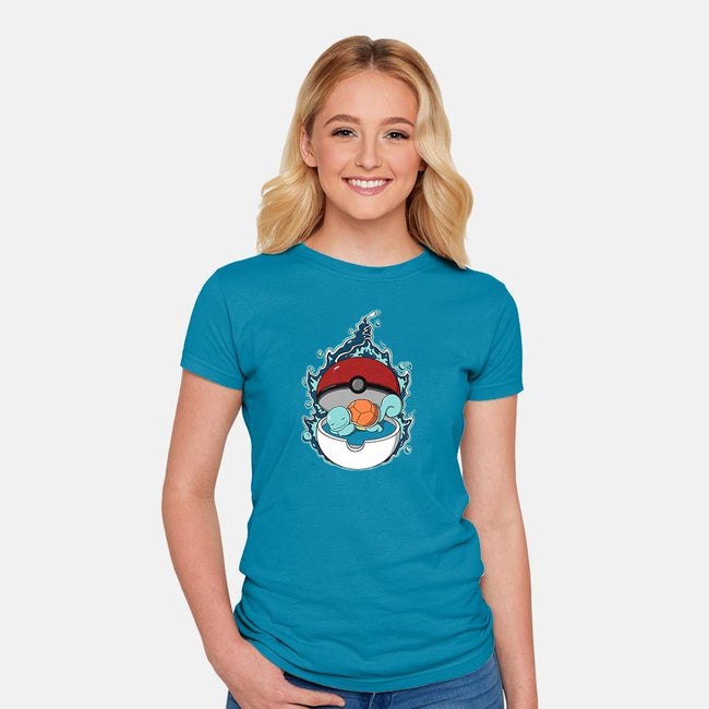 Sleepy Water Type-womens fitted tee-Adelaidelia