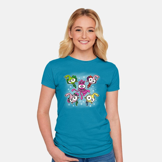 Power Snorks-womens fitted tee-moysche
