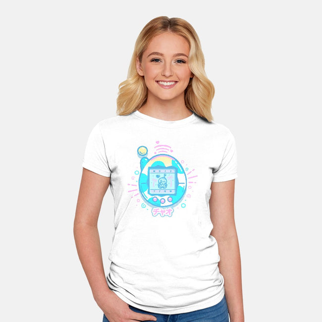 Virtual Pet-womens fitted tee-Minilla