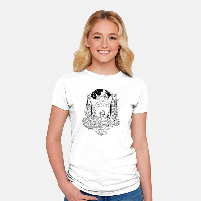 Imaginative Mash-womens fitted tee-JMDragunas