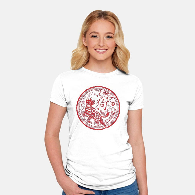 Year of the Dog-womens fitted tee-Kat_Haynes