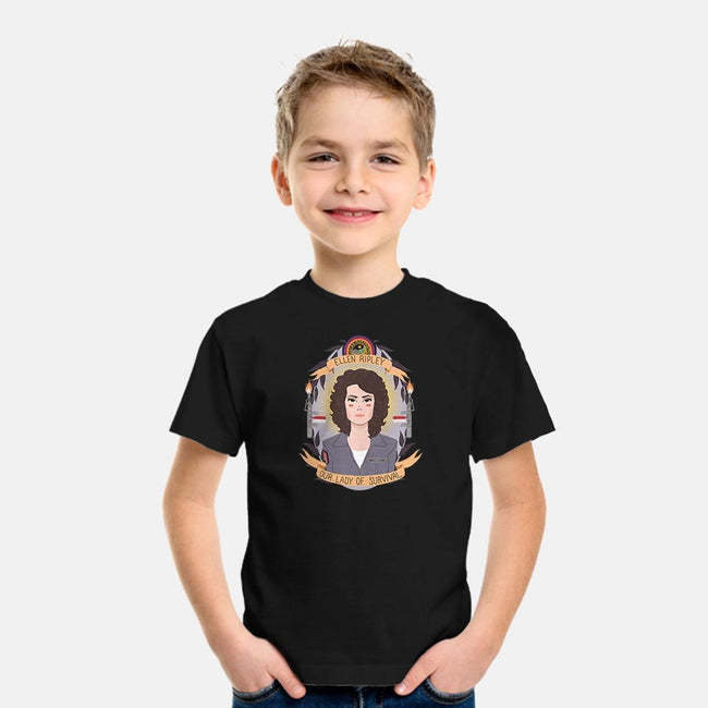 Our Lady of Survival-youth basic tee-heymonster