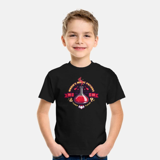 Mario's Magic Potions-youth basic tee-Minilla