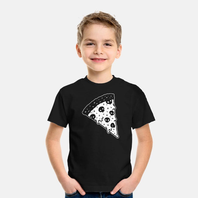 Death By Pizza-youth basic tee-LadyMorgan