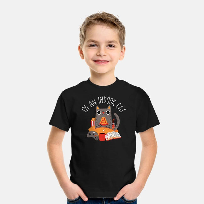 Indoor Cat-youth basic tee-DinomIke