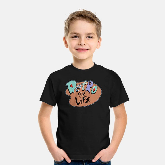 Retro for Life!-youth basic tee-ClayGrahamArt