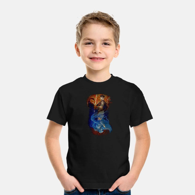 The Warrior and the Healer-youth basic tee-EstherSanz