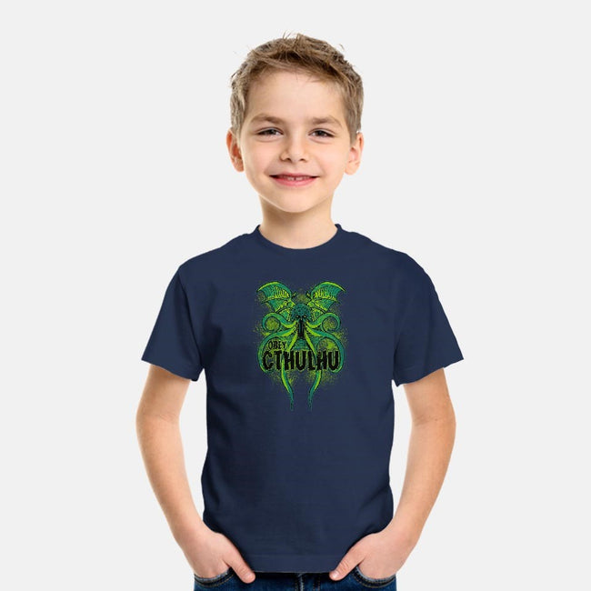 Obey The Cthulhu-youth basic tee-fanfreak1