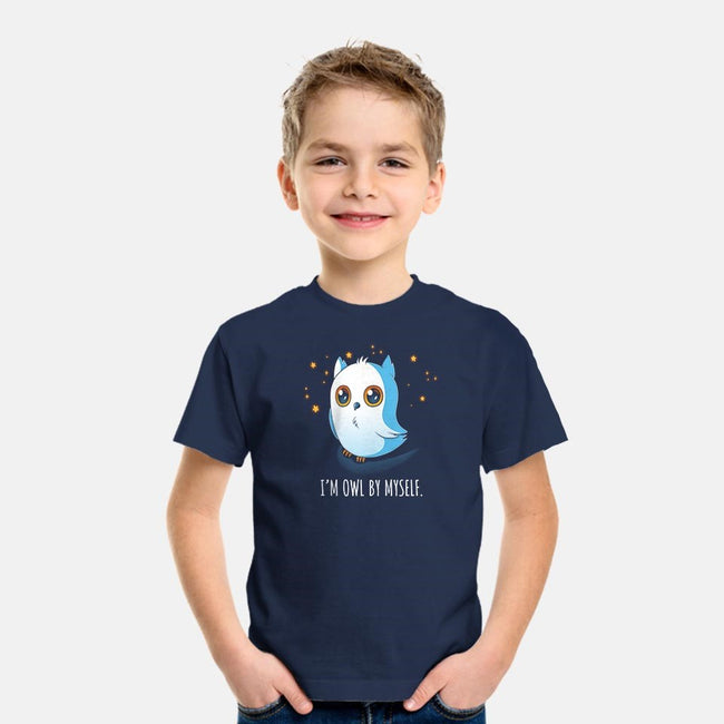 I'm Owl By Myself-youth basic tee-Digital Magician