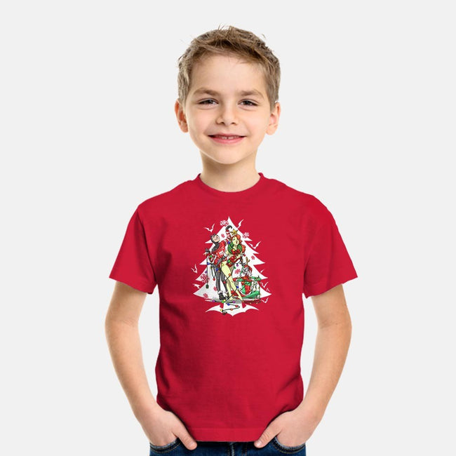 Christmas Belles-youth basic tee-ArtistAbe