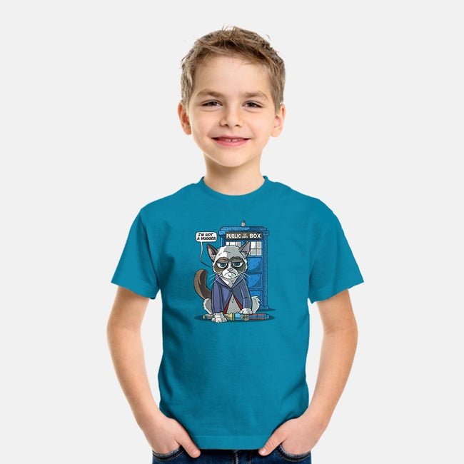 Grumpy Doctor Cat-youth basic tee-Ericfmatos