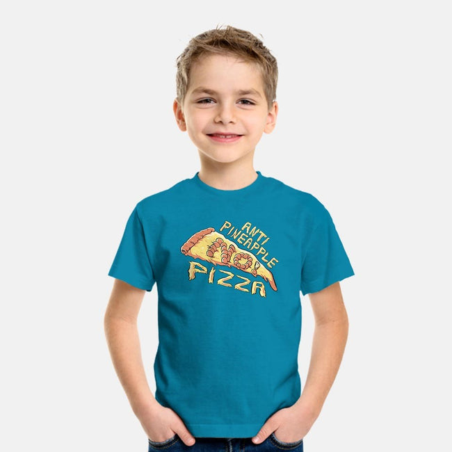 Anti Pineapple Pizza-youth basic tee-Fishmas