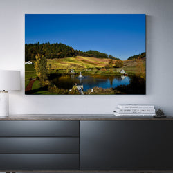 Canvas Wall Art Of Reustle Vineyards-And He Cooks