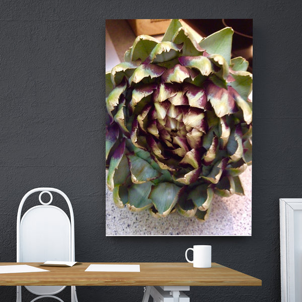 Canvas Wall Art Artichoke Close-up Kitchen Art 4 Sizes To Choose From-And He Cooks