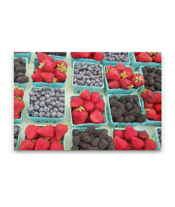 Canvas Wall Art Berry Baskets Kitchen Art 4 Sizes To Chose From-And He Cooks