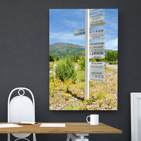 Canvas Wall Art Of Wine Country Sign, 4 Sizes To Choose From-And He Cooks