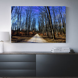 Canvas Wall Art Road Lined With Trees 4 Sizes To Choose From-And He Cooks