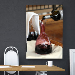 Canvas Wall Art Of Wine Decanter 4 Sizes To Choose From-And He Cooks