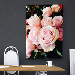 Canvas Wall Art Beautiful Pink Roses 4 Sizes To Choose From-And He Cooks