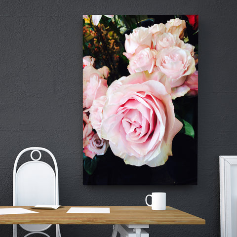Canvas Wall Art Pink Roses 4 Sizes To Choose From-And He Cooks