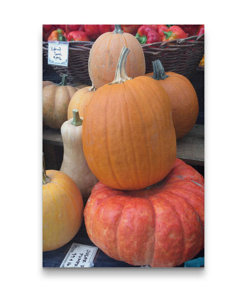 Canvas Wall Art Stacked Pumpkins Kitchen Art 4 Sizes To Chose From-And He Cooks