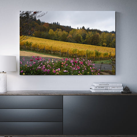 Canvas Wall Art Of Trio of Trees, Vines And Flowers 4 Sizes To Choose From-And He Cooks