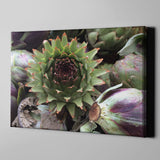 Artichoke Kitchen Art On Artists Canvas, 4 Sizes To Chose From-And He Cooks