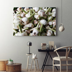 Canvas Wall Art Garlic Kitchen Art 4 Sizes To Choose From-And He Cooks