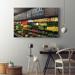 Canvas Wall Art Corner Market Kitchen Art 4 Sizes To Choose From-And He Cooks
