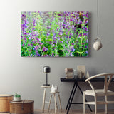 Wildflowers Kitchen Art On Artists Canvas, 4 Sizes To Chose From-And He Cooks