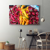 Canvas Wall Art Pepper Medley Kitchen Art 4 Sizes To Choose From-And He Cooks