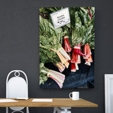 Canvas Wall Art Rainbow Chard Kitchen Art 4 Sizes To Chose From-And He Cooks