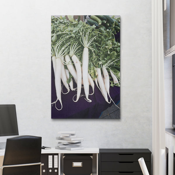 Canvas Wall Art White Carrots Kitchen Art 4 Sizes To Chose From-And He Cooks