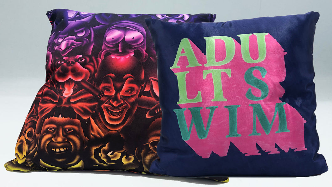 Adult Swim Throw Pillow