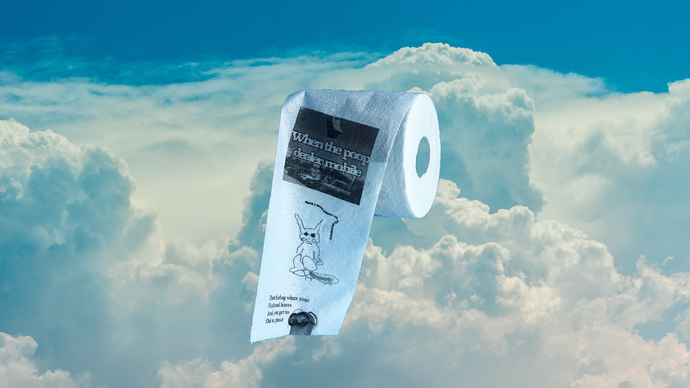 Bottom Text Toilet Paper