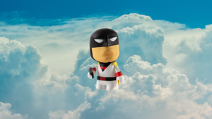 Kid Robot Space Ghost Mini Figure