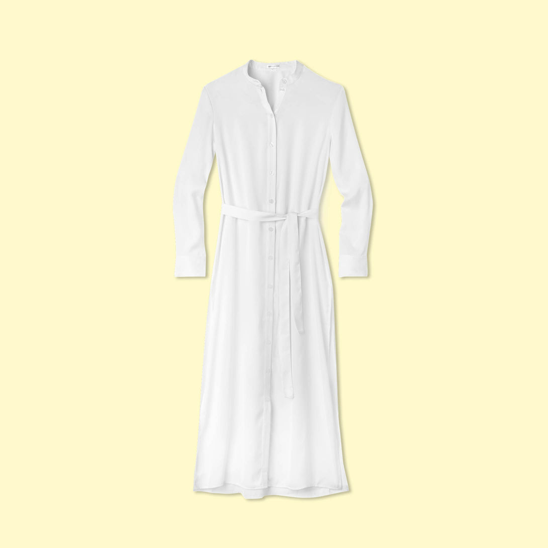 The Effortless Shirtdress Cover-Up - White Sand