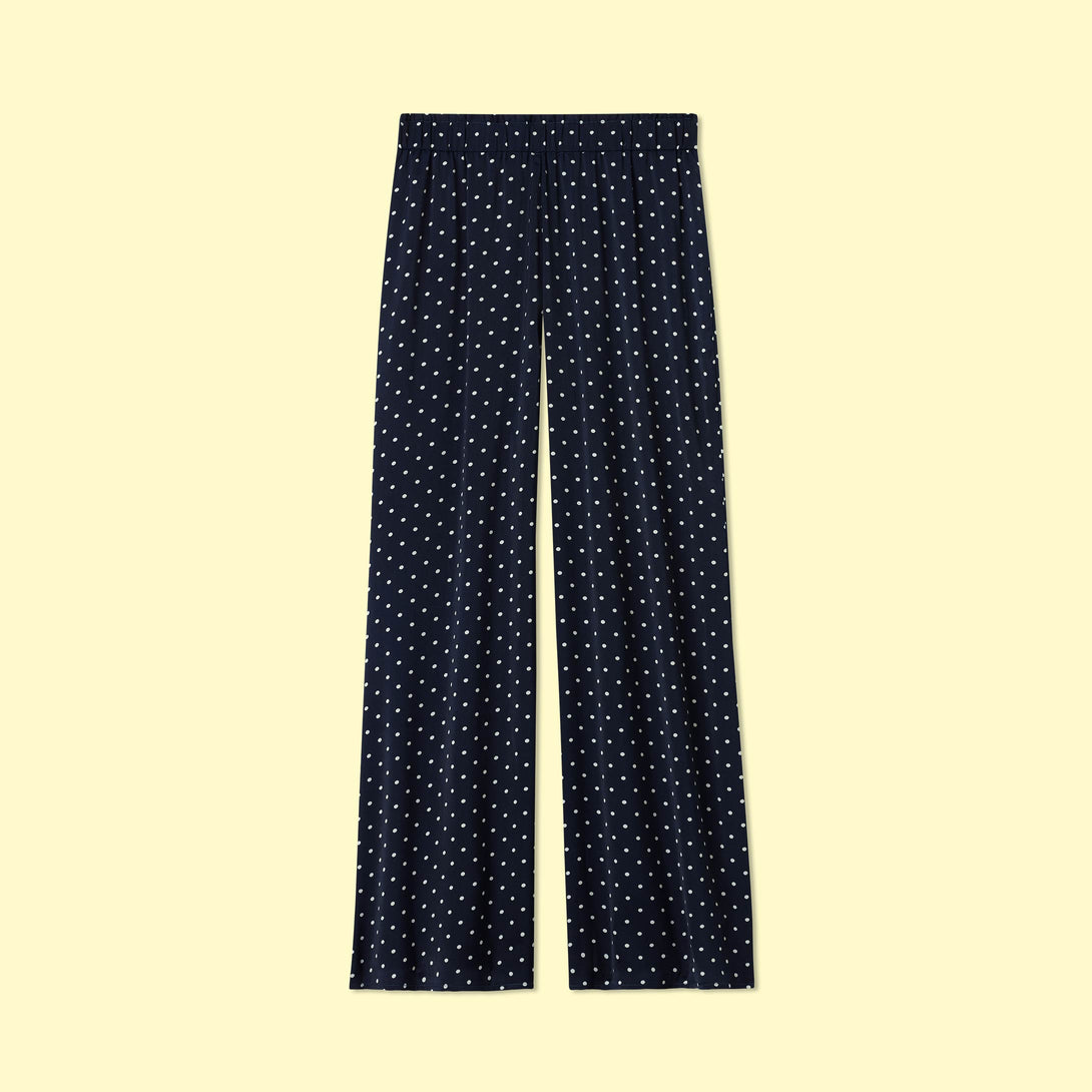 The Perfect Palazzo Pant - Deep Sea Dot