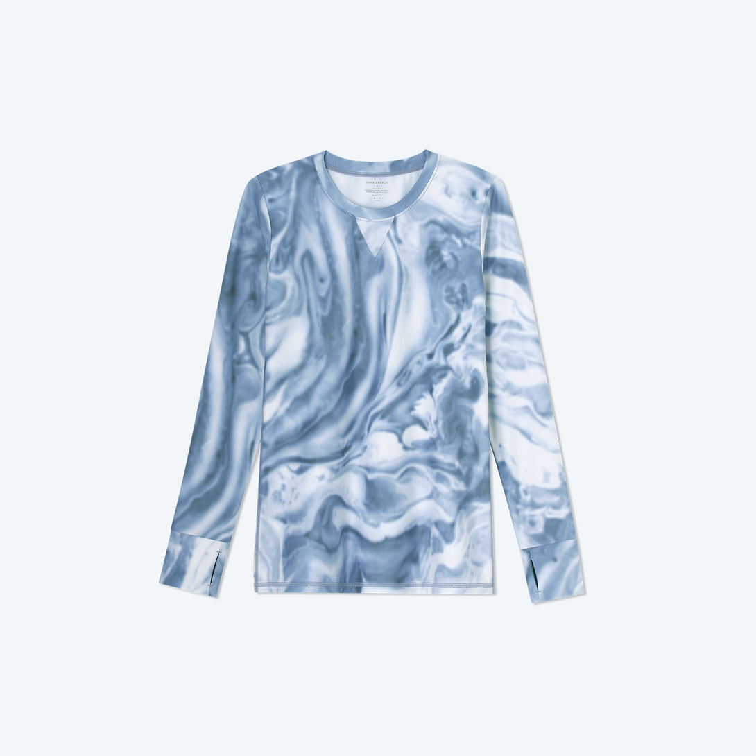 The Long Sleeve Pullover - Slate Marble